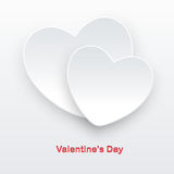 Two white hearts Royalty Free Stock Photography