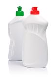 Two White Kitchen Bottles Royalty Free Stock Photography