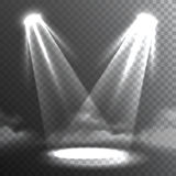 Two White Lights Beams Meet Banner Royalty Free Stock Photo