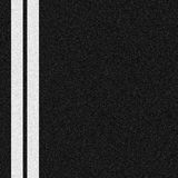 Two white lines. Double white lines painted on asphalt road surface Stock Image
