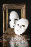 Two white masks Royalty Free Stock Images
