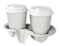 Two White Paper Cup Stock Photography