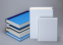 Two white plain books for graphic design Royalty Free Stock Image