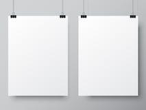 Two White Poster Templates Royalty Free Stock Photo