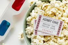 Two White-and-red Admission Tickets stock photography