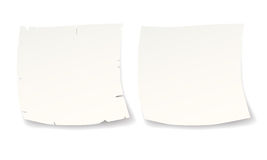Two white reminders Royalty Free Stock Images
