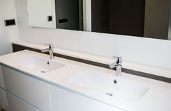 Two sinks in the bathroom Royalty Free Stock Photo