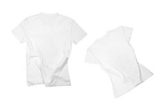 Two white t-shirts Stock Photography