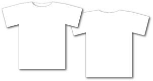 Two white t-shirts. Illustration of two blank white t-shirts on white background Stock Images
