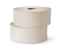 Two white toilet paper rolls Royalty Free Stock Image