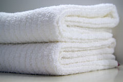 Two white towels Royalty Free Stock Image