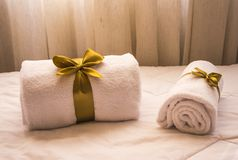 Two White Towels stock photo