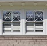 Two white windows Royalty Free Stock Photo