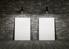 Two whiteboards in the room Royalty Free Stock Photo