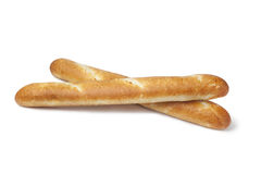 Two whole baguettes Stock Images