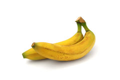 Two whole banana isolated. On a white background Stock Images
