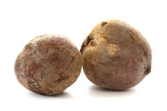 Two whole beetroots Royalty Free Stock Photos