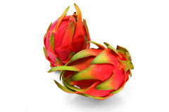Two whole dragon fruit Royalty Free Stock Photo