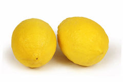 Two whole fresh lemon Royalty Free Stock Images
