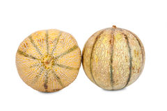 Two whole Galia Charentais Melons Stock Image