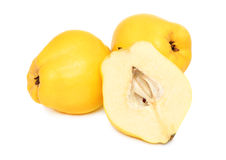 Two whole and a half quince () Royalty Free Stock Image