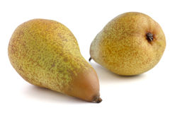 Two whole pears lying down Stock Photography