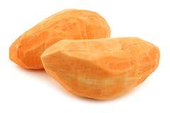 Two whole peeled sweet potatoes Royalty Free Stock Photos
