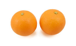 Two whole ripe oranges Stock Photo