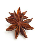 Two whole star anise in closeup Royalty Free Stock Images