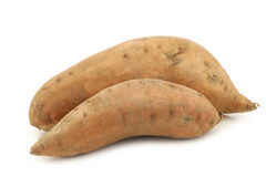 Two whole sweet potatoes Stock Photos