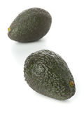 Two whole, uncut ripe avocado fruit Royalty Free Stock Photography