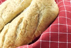 Two Whole Wheat Hoagie Buns Royalty Free Stock Photography