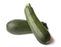 Two whole zucchini isolated. On white background stock image