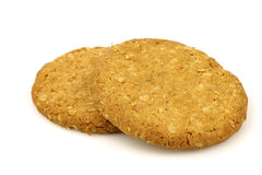 Two wholemeal cookies Royalty Free Stock Photo