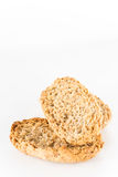 Two Wholewheat crisp in white isolated Stock Images