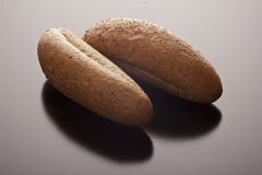 Two wholewheat rolls Royalty Free Stock Photo