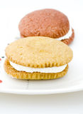 Two Whoopie Pies Royalty Free Stock Photography