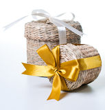 Two wicker boxes Stock Photography