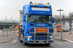 Two Wide Load Road Transports Start Journey Stock Photography