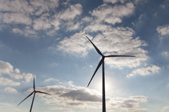 Two Wind Generators Stock Images