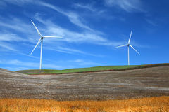 Two wind mills Royalty Free Stock Images