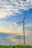Two Wind Turbine Generators Royalty Free Stock Photography