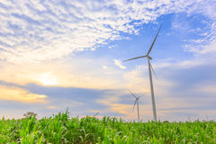 Two Wind Turbine Generators Royalty Free Stock Images