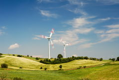 Two Wind Turbines Stock Photography