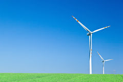 Two wind turbines Royalty Free Stock Photos