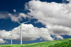 Free Two Wind Turbines Royalty Free Stock Photos - 6009528