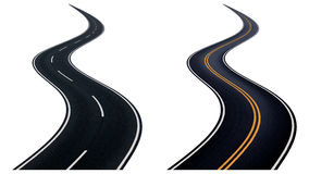 Two winding road. Stock Photography