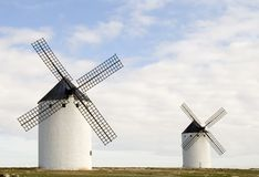 Two Windmills Stock Images