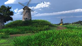 Two windmills Royalty Free Stock Photography