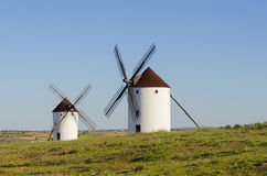 Two windmills Stock Photography